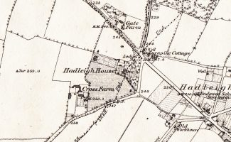 the 1876 OS map shows Hadleigh House clearly | By courtesy The Ordnance Survey