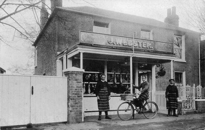 Websters Butchers from Hadleigh Postcard Memories | Bob Nichols