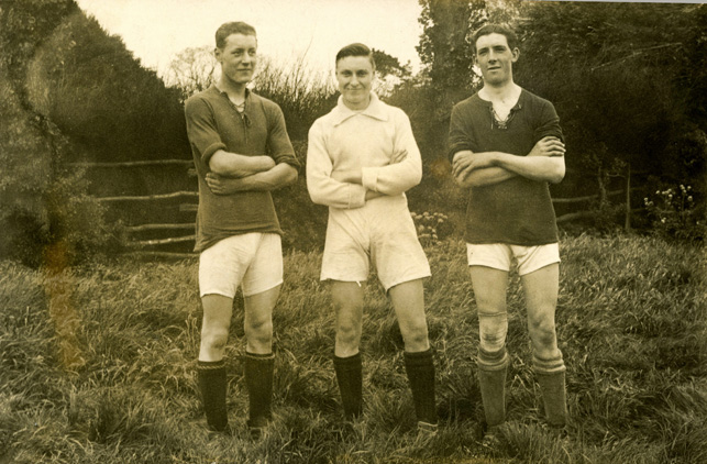 Hadleigh Albions in 1923. From left: Ben Chalk, Jack Stevens and Bob Nash | Gill and Colin Blackall