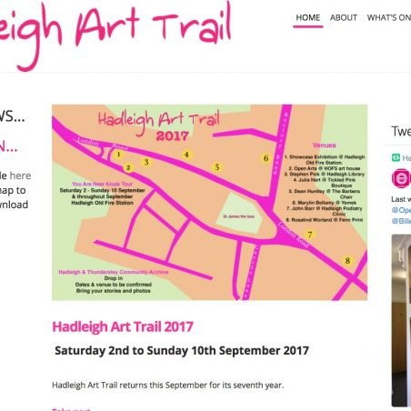 Map of Art Trail 2017 | HAT 2017
