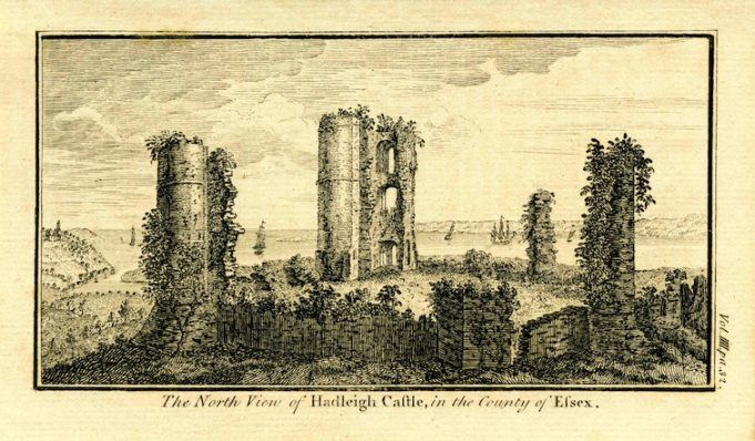 A fair part of the ruins were still standing a hundred years earlier, according to this engraving of c.1790.
