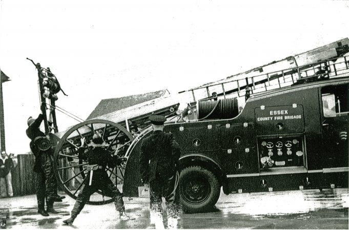 Hadleigh Fire Station Training Exercise 1955 | Alice Chafer