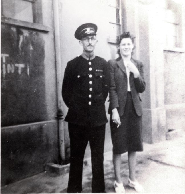 Monty (Doorman) and Miss Wing (with cigarette) | Alice Chafer