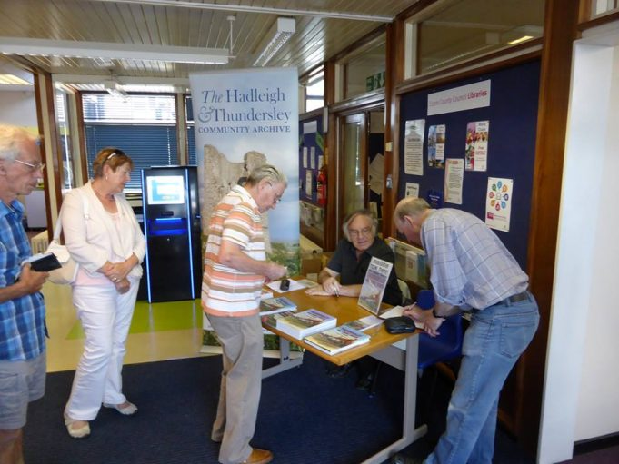 Hadleigh Library signing on Saturday 11th July 2015. | John Butler