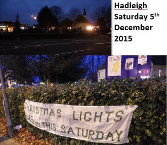 The 2015 Hadleigh Christmas Lights