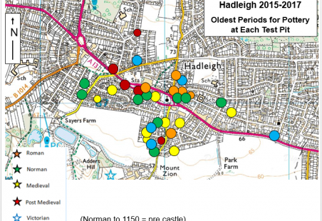 3 Years of Archaeological Test Pits in Hadleigh