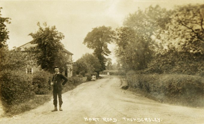 Hart Road with The Homestead and a Postman | Peter Pond