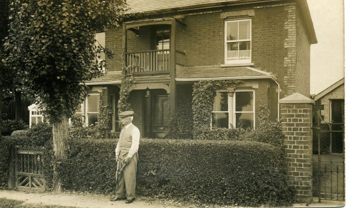 Alfred Hawks outside Holbo House, 40 Chapel Lane, in the 1930s | Ian Hawks