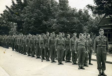 Local Home Guard on parade