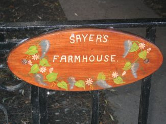 Sayers Farm gate plaque | Graham Cook
