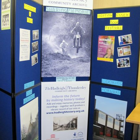 Hadleigh & Thundersley Archive, brand new display boards; design Lynda Manning, art work David Hurrell | Lynda Manning