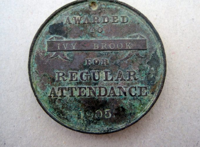 Awarded to Ivy Brook for Regular Attendance 1905 | Lynda Manning