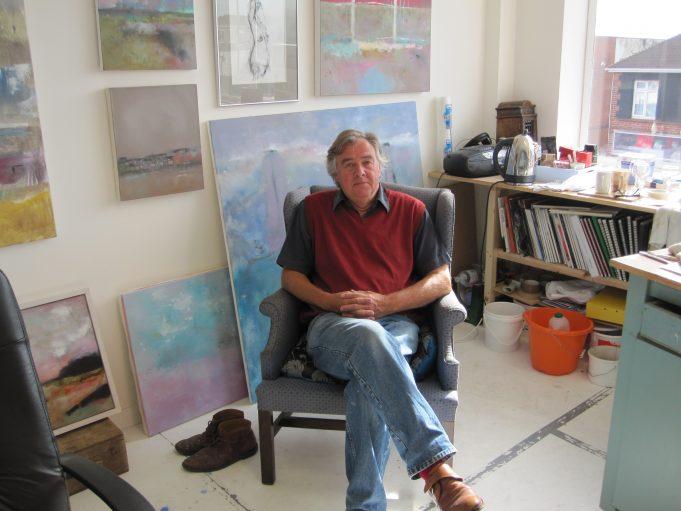 Barry Andrews posing in his studio | Tony Manning