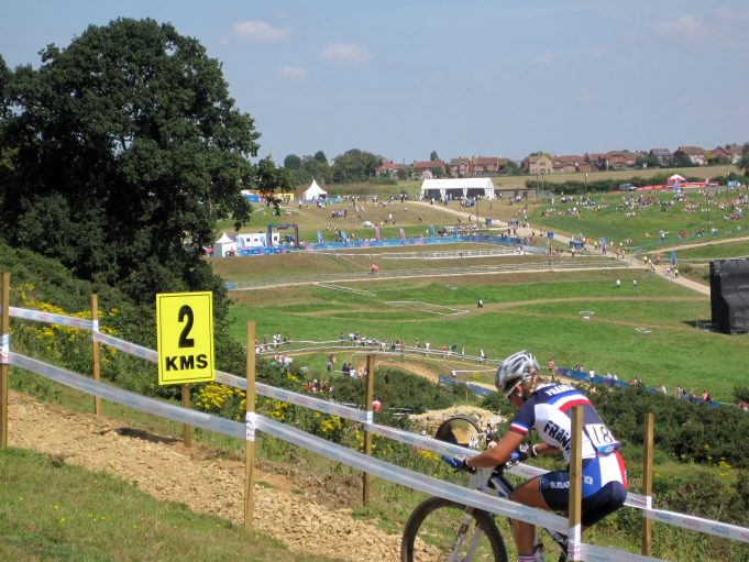 Fantastic view of the Women's competition from the highest part of the course | Lynda Manning