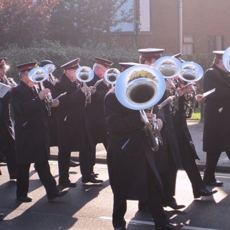 The Hadleigh Salvation Army Band leading the parade | Tony Manning