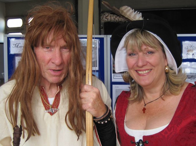 The Saxon and the wench (aka Mick Ryan and Karen Bowman of