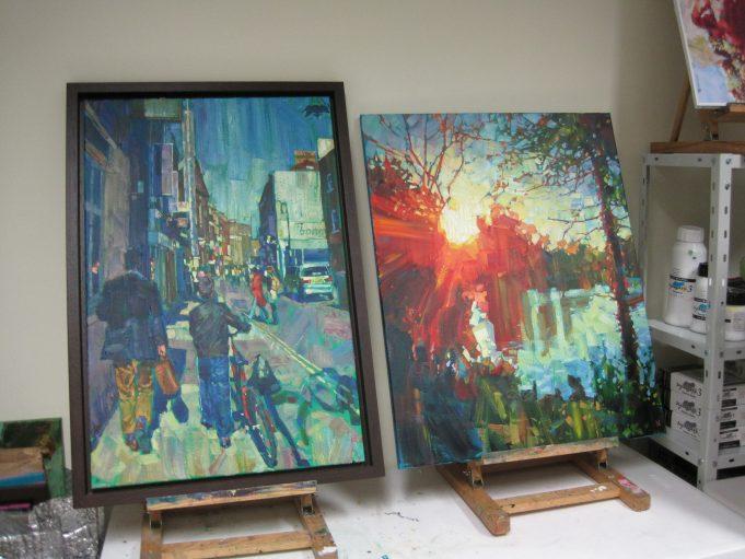 Hashim Akib's studio at HOFS | Lynda Manning