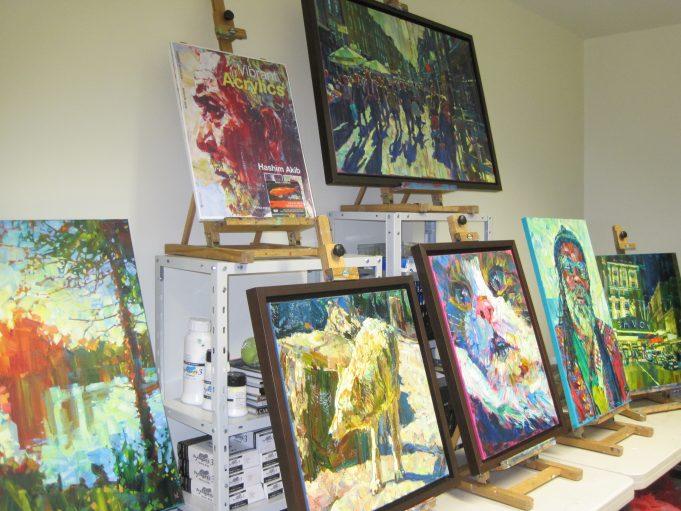 Hashim Akib's studio | Lynda Manning