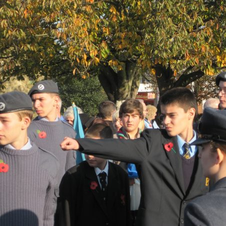 Thundersley Air Training Corps prepare to march | Lynda Manning