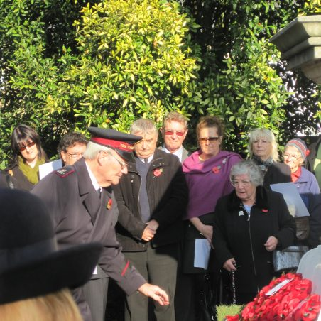 Laying The Salvation Army wreath | Lynda Manning