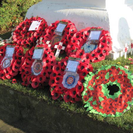 Wreaths laid at the War Memorial | Lynda Manning