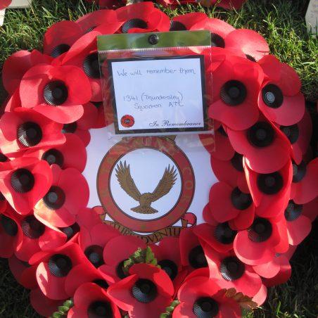 Thundersley Air Training Corps' wreath | Lynda Manning