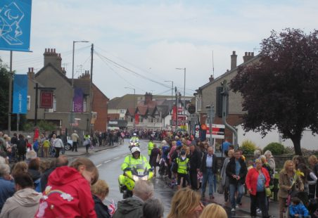 Olympic Torch Passes Hadleigh Old Fire Station