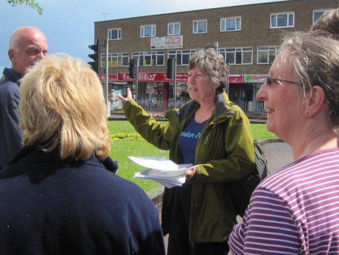 Jenny Butler leading the walk | Lynda Manning