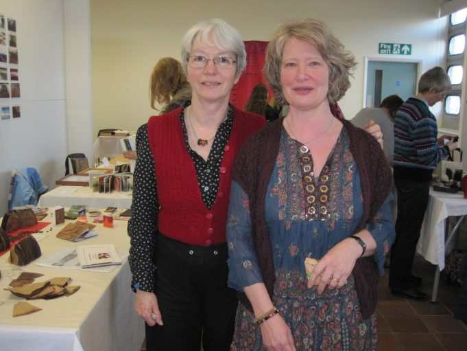 Gwen Simpson (left), presently at Colchester University on a Book Arts MA course, with Chris Ruston (right) | Lynda Manning