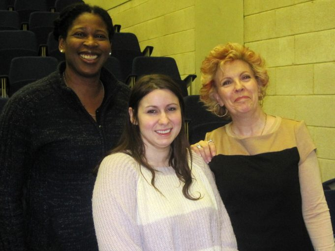 Shella Udoh and Hayley Rayner, with workshop leader Dee Gordon | Lynda Manning