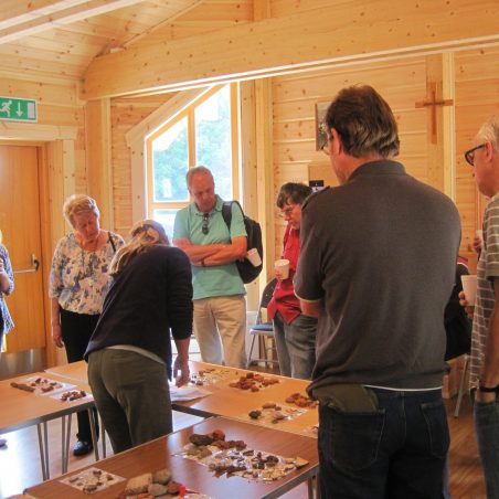 5   6th June – Dr Carenza  Lewis shows Daws Heath residents the previous day's finds. | Photo by Lynda Manning