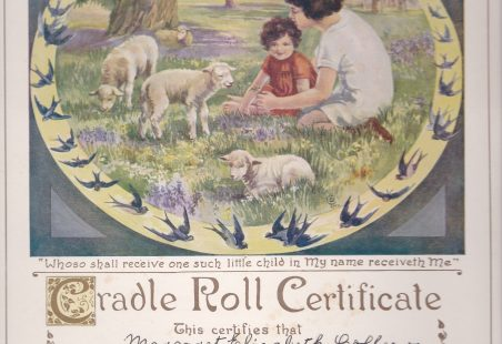 Thundersley Congregational Cradle Roll Certificate
