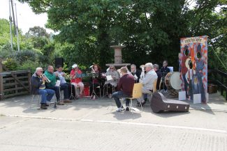 One of the brass groups entertaining during the day.   Graham Cook
