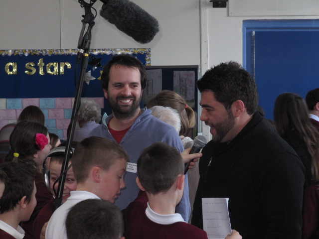 Stuart Bowditch and Rob Anderson (Essex Legacy) at Hadleigh Junior School | Graham Cook