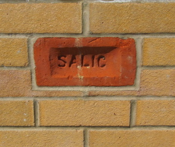 One of the four original bricks used in the plinth. SALIC are the initials for Salvation Army Land & Industrial Colony | Graham Cook