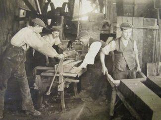 Working machinery and brick making.