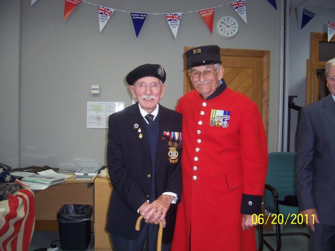 Ian & Chelsea Pensioner in reception hall. | Bridget Underwood