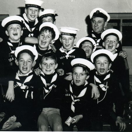 South Benfleet Sea Scouts.     Ian top left. | Ian