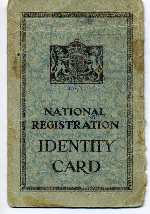 Personal identity card to be carried at all times. | Ian Hawks.