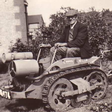 Jack Felton with his tractor 1946.