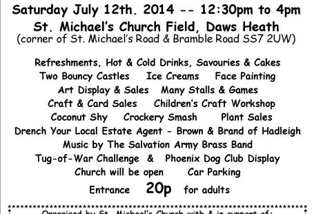 Daws Heath Village Fayre -12th July 2014