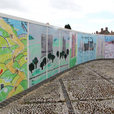 These illustrations are next to Hadleigh Library | Graham Cook