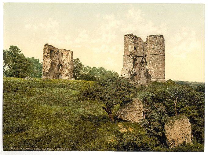 A 19th Century Photochrome of Hadleigh Castle