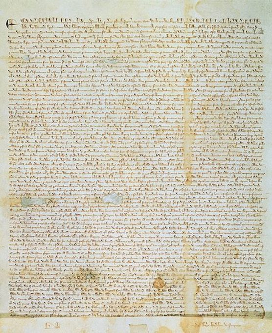 One of the surviving versions of the Magna Carta