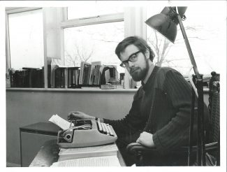 Mark writing in 1980 | By courtesy of  Newsquest Essex Echo & Gazette