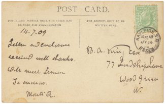 A reverse of the postcard | Peter Lewsey