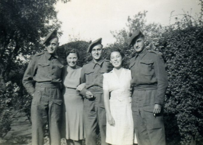 Doris and Erica with three of the Corps | Ian Hawks