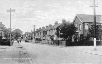 Possibly the Junction Between London Road and Oak Road Looking West. Alverstone could be the large corner house on the right | From Hadleigh Postcard Memories by Robert Nichols