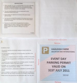 Parking permit sent to Beech Road | NT