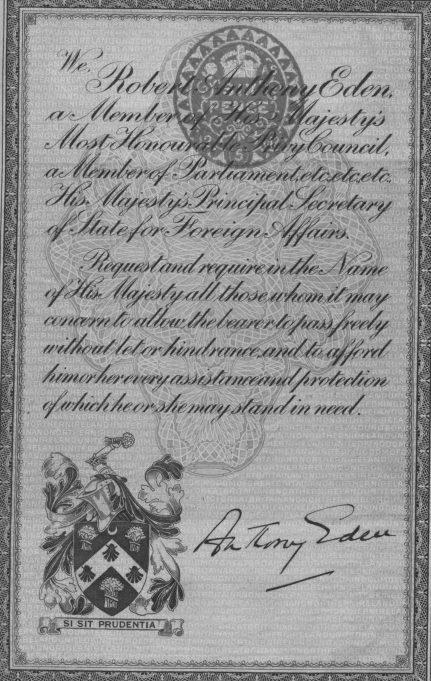 Passport page 1. | Ian Hawks.